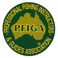 A member of the Professional Fishing Instructors & Guides Association of Australia