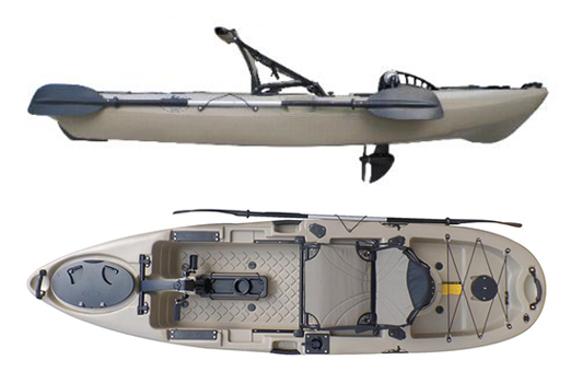 Kayak fishing down under view topic come try the new for Fishing kayak with foot pedals